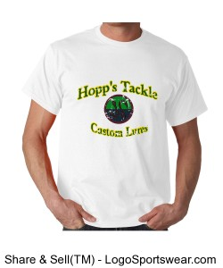 Hopp's Tackle Distressed T-shirt Design Zoom